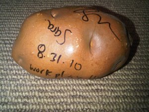 Tegan and Sara autographed potato shaker!
