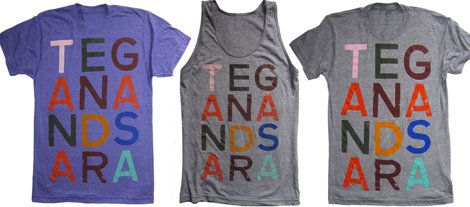 Tegan and Sara T-shirts