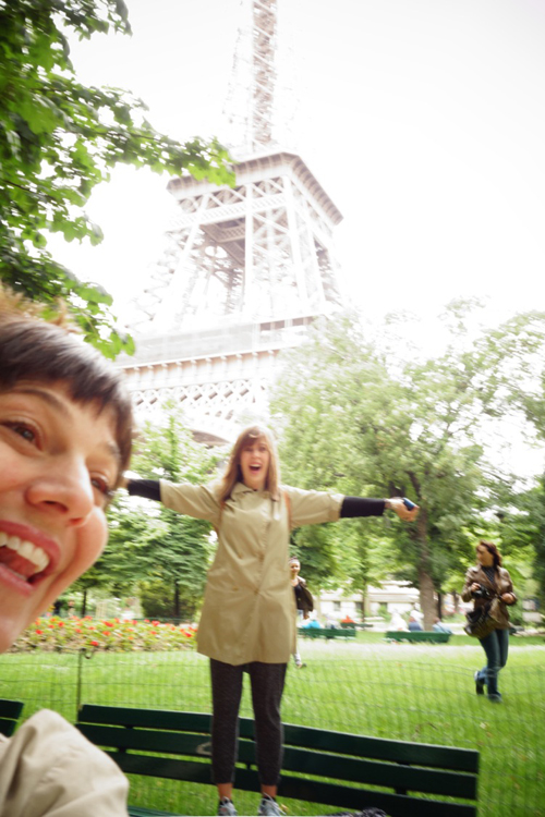 Sonia and LB at the Tour Eiffel