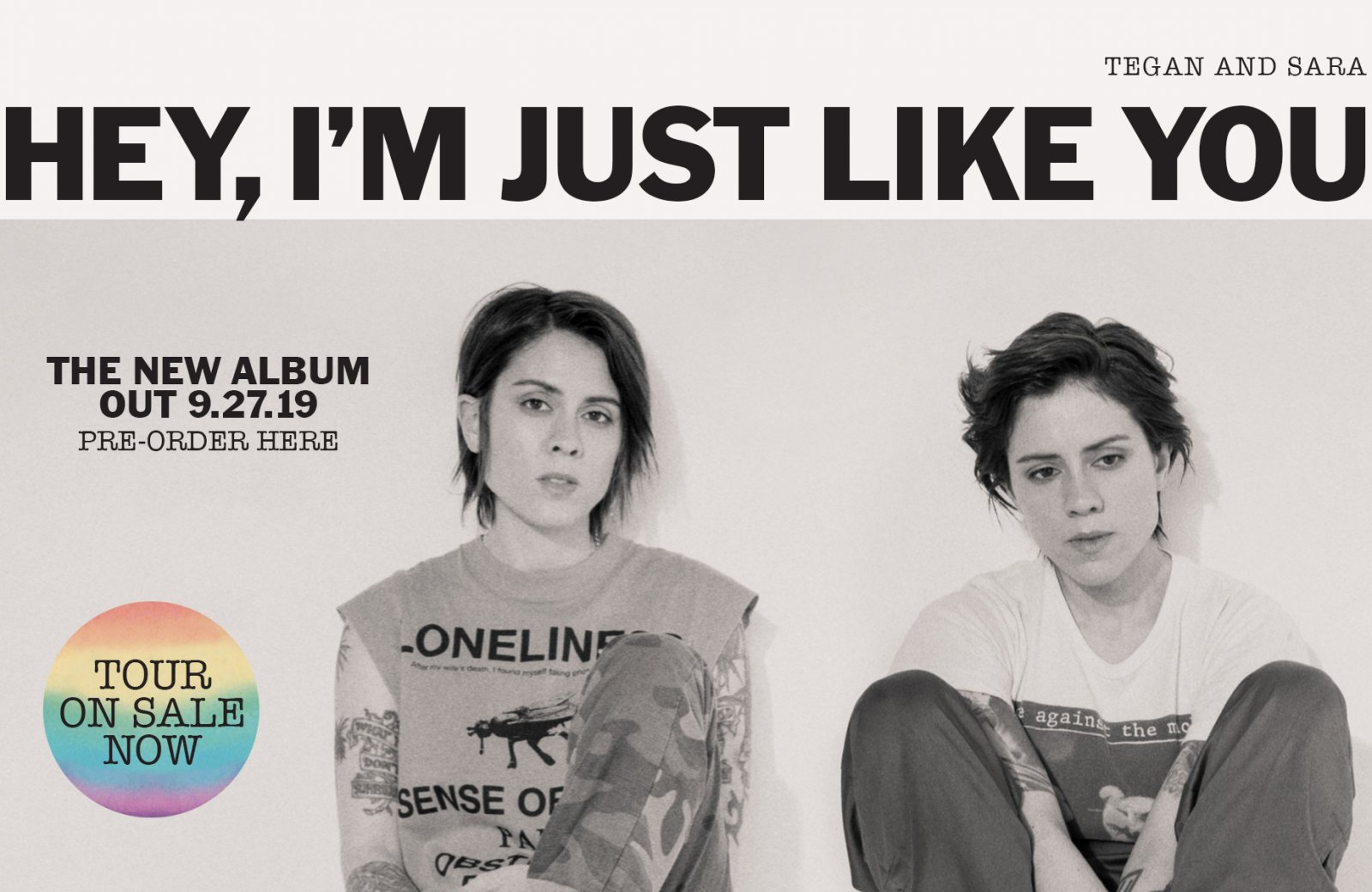 Tegan And Sara Hey I'm Just Like You pre-order