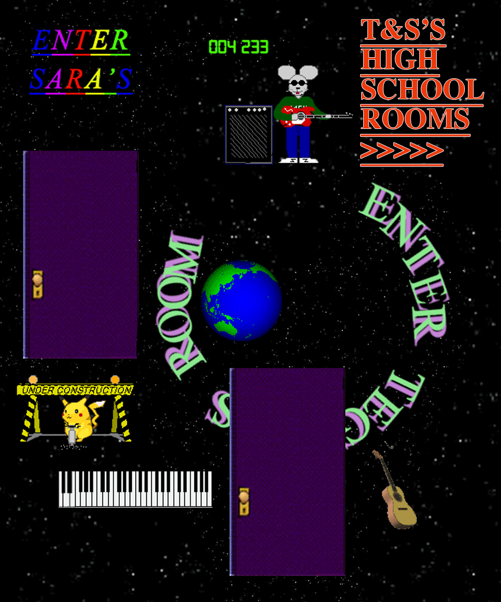 Tegan and Sara '90s style web graphic for High School page