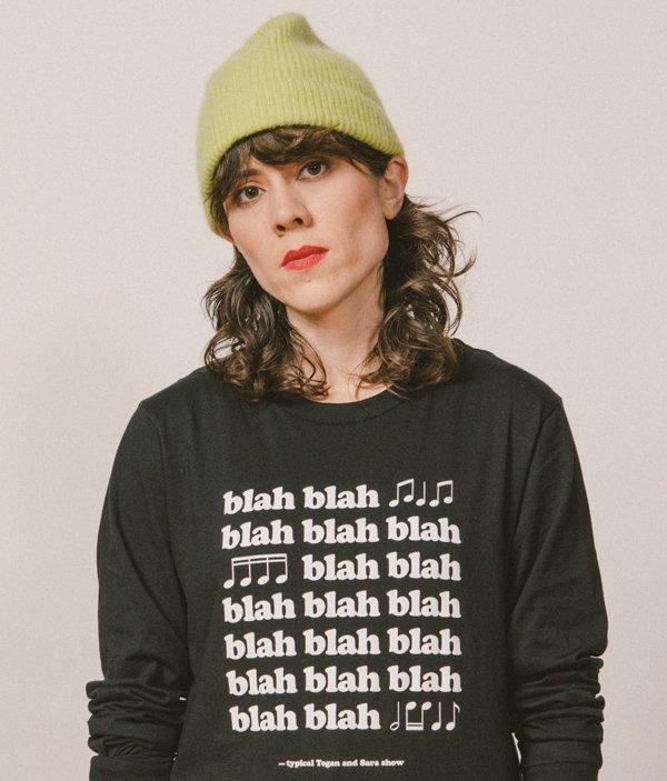 Tegan and Sara blah blah blah shirt