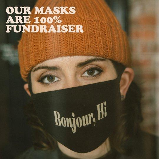 bonjour hi facemask fundraiser