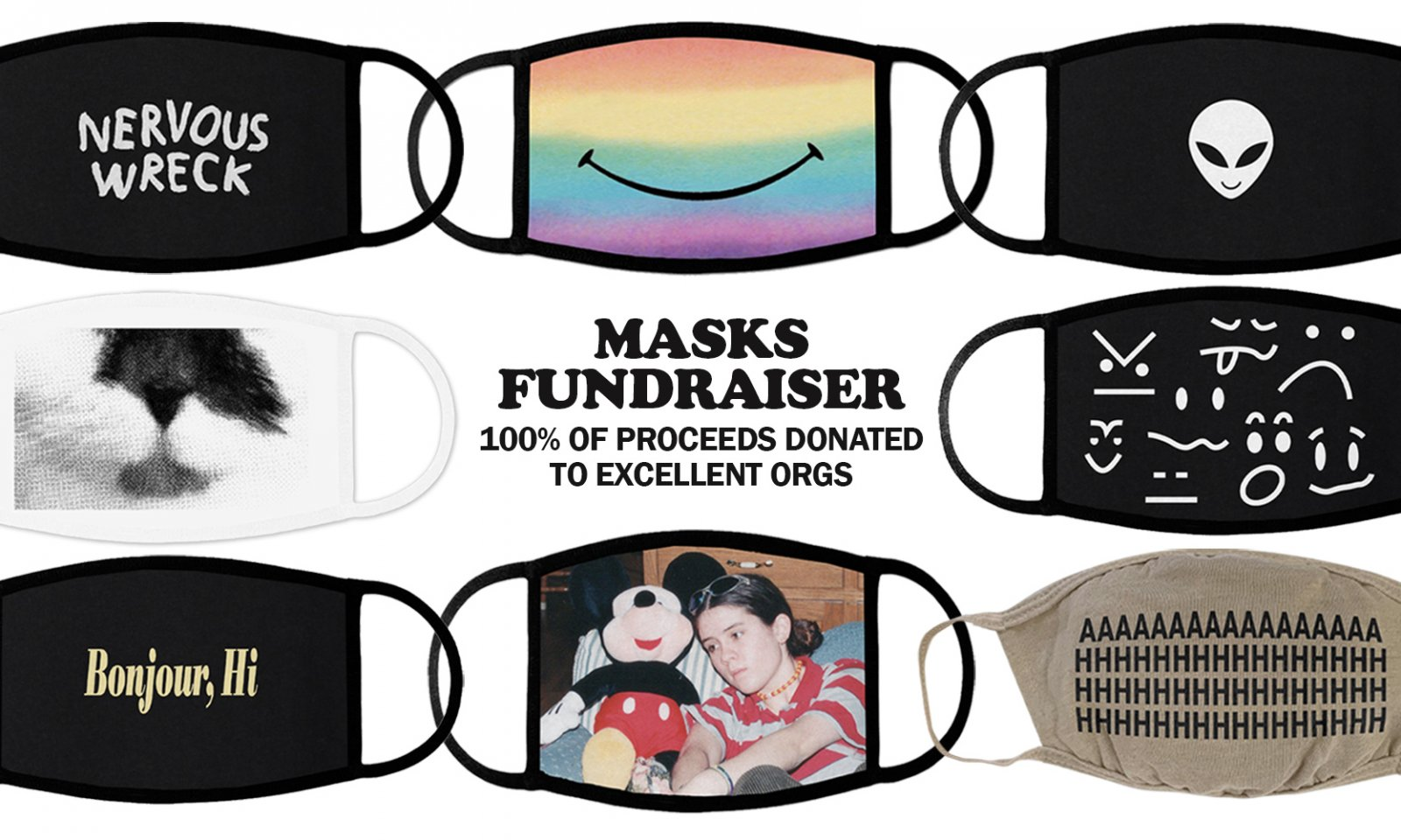 tegan and sara facemask fundraiser
