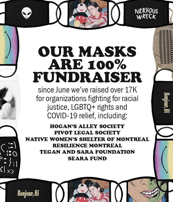 tegan and sara's facemask fundraiser
